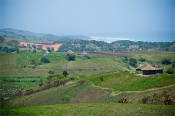A village that will have to be relocated should the mining rights be granted.