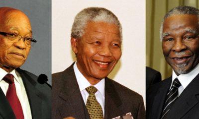 Photo © South African Government (Zuma, Mbeki) and UN Photo/James Bu (Mandela)