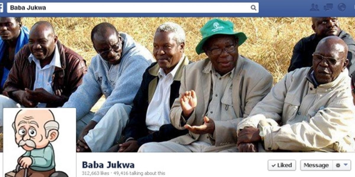 A screen shot of Baba Jukwe's Facebook page. At last count, he had 313 000 Facebook followers.