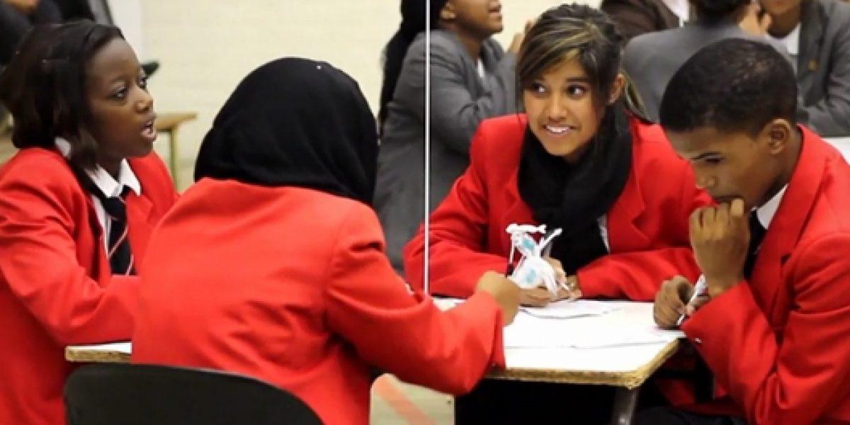 Participants in the SAIIA InterSchools Quiz answering questions.