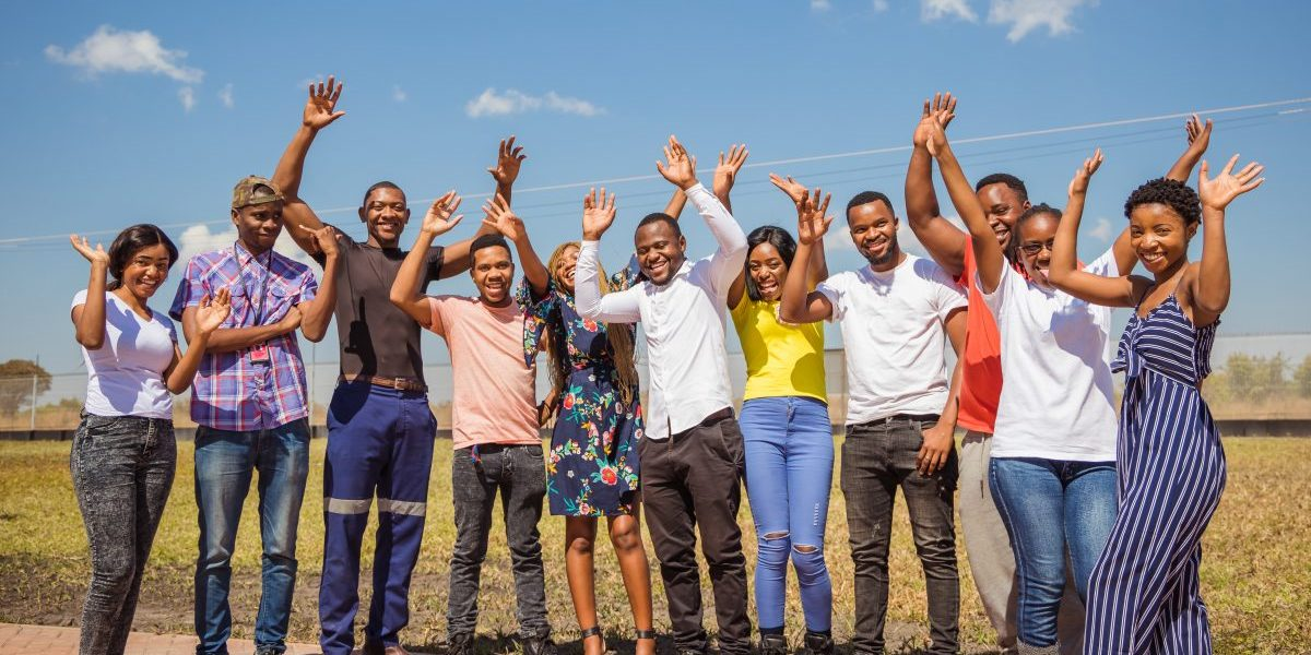 Group Portrait of young adult Zambians. Image: Getty, SCShutter