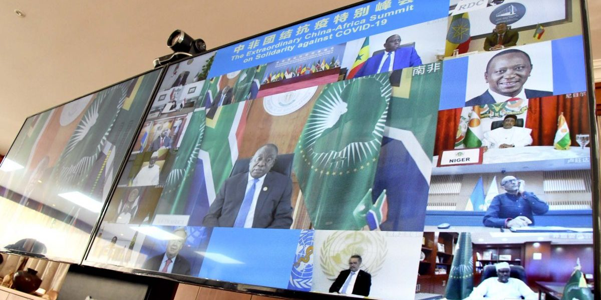 President Cyril Ramaphosa participates in a virtual Extraordinary China-Africa Solidarity Summit against Covid-19. Image: Flickr, GovernmentZA