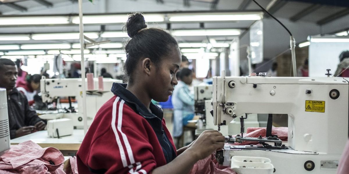 Madagascar's exports are projected to continue to boom in 2018-19, with strong demand for textiles in the free trade zone. Image: Getty, Miora Rajaonary/Bloomberg