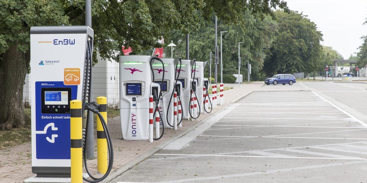 EV charging station. Image: Getty, Christian Ender