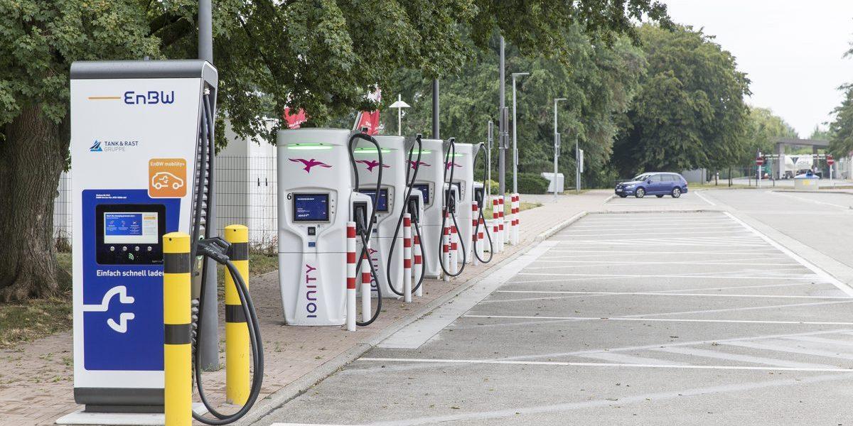 EV charging station. Image: Getty, Christian Ender
