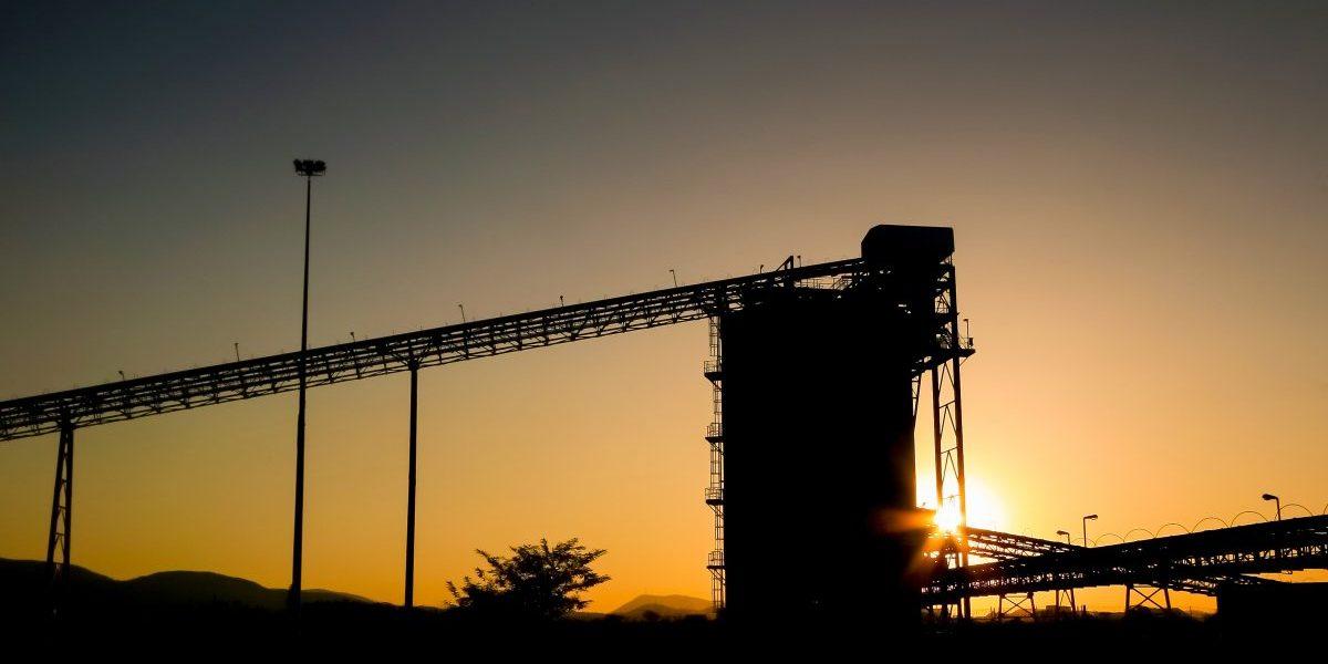 Palladium Platinum Mine conveyor belt and silo at sunset. Image: Getty, Sunshine Seeds/iStock