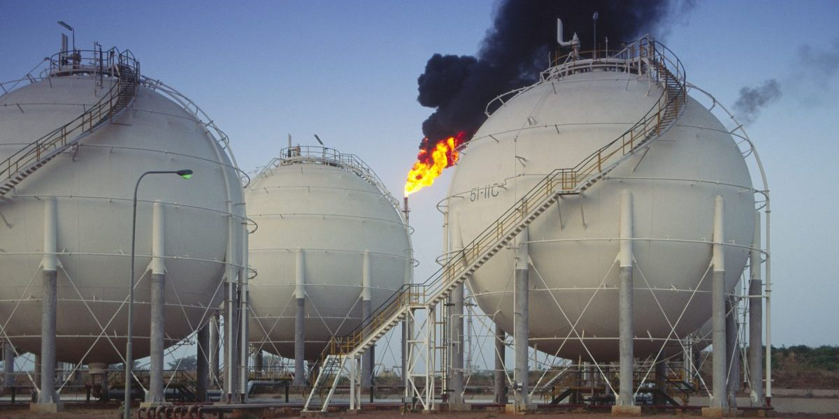Oil and petrochemical refinery, Kaduna, Nigeria. Image: Getty, Andrew Holt/Construction Photography/Avalon