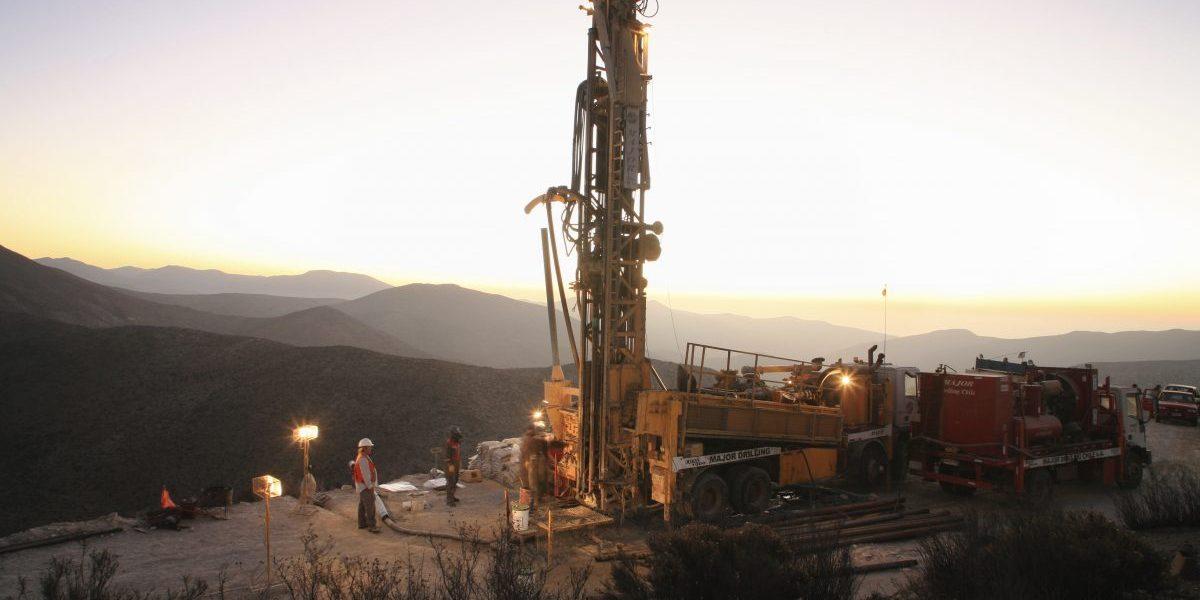 Sunset drilling at a Ttitanium mine. Image: Getty, Oliver Llaneza Hesse