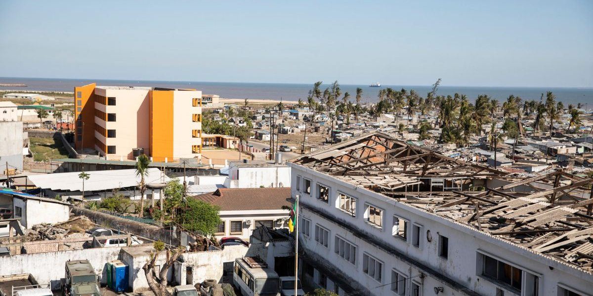 View of Beira on July 12, 2019, an area affected by Cyclone Idai. Image: Getty, Wikus de Wet/AFP