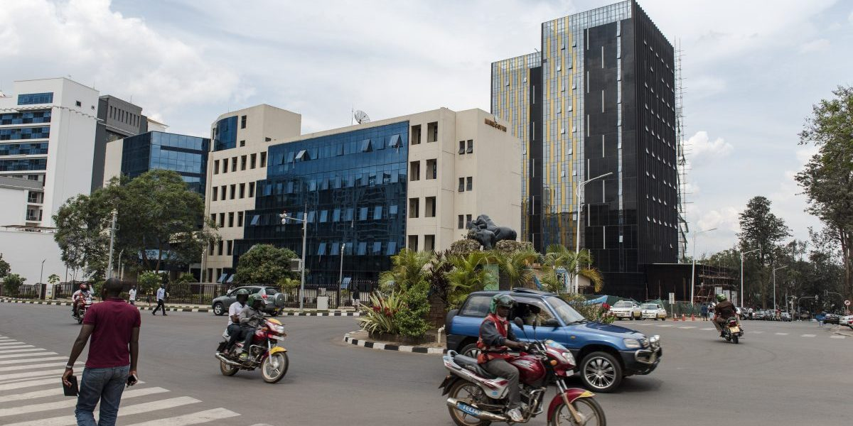 New buildings in downtown Kigali, the capital of Rwanda. Image: Getty, William Campbell-Corbis