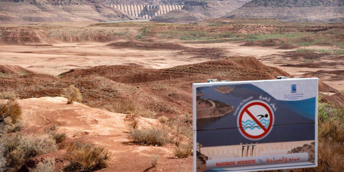 The Abdelmoumen dam, some 60 kilometres from Morocco's coastal city of Agadir, October 23, 2020. Image: Getty, Fadel Senna/AFP