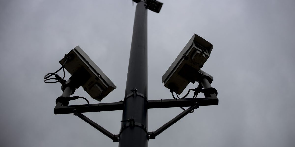 CCTV cameras record the traffic in King's Cross, London. Image: Getty, Tolga Akmen/AFP