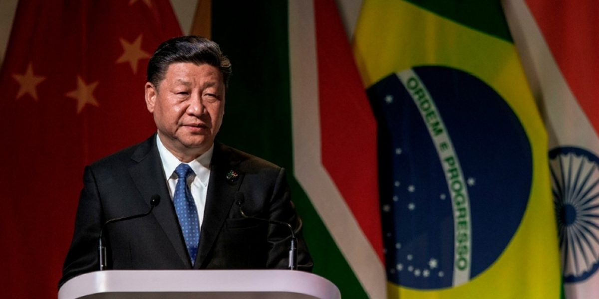 China's President Xi Jinping addresses delegates at a Business Forum organised during the 10th BRICS summit on July 25, 2018 (Photo © Gianluigi Guercia/AFP/Getty)